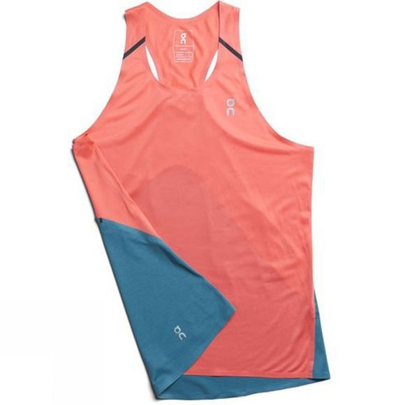 On Womens Tank-T Coral/Storm