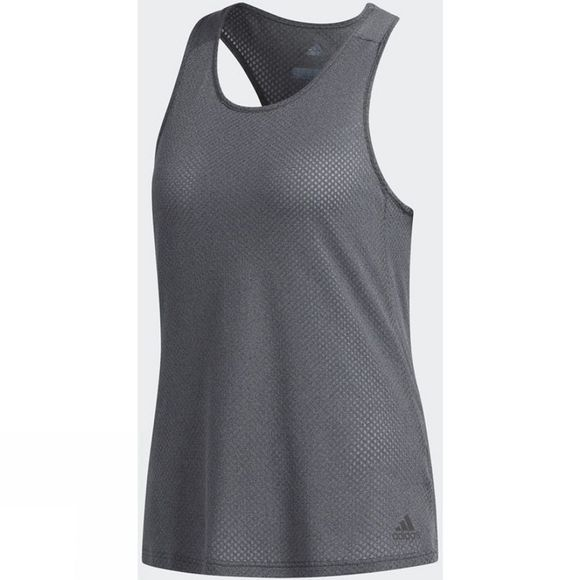 Adidas Womens Response Light Speed Tank Top Dark Grey Heather