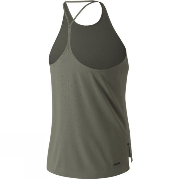 New Balance Q Speed Woven Tank  Khaki