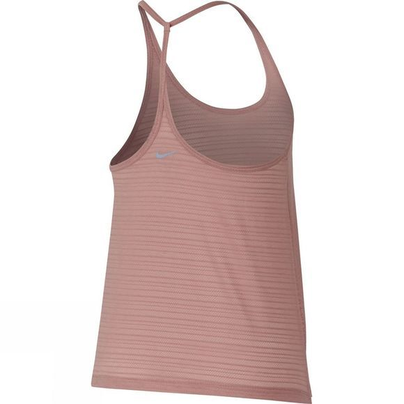 Nike Women's Miler Strappy Tank Rust Pink/Heather