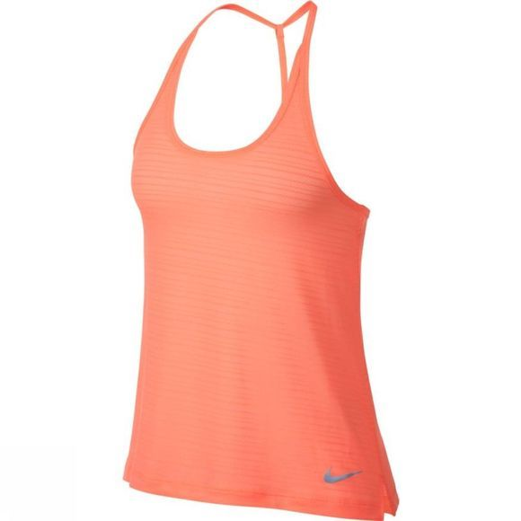 Nike Women's Miler Strappy Tank Crimson Pulse Heather