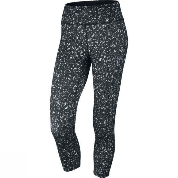 Nike Womens Power Essential Running Crop BLACK