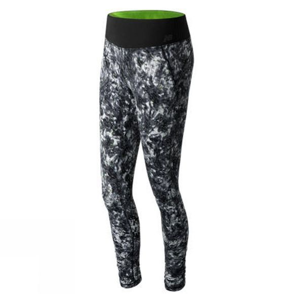 New Balance Women's Premium Performance Print Tights White Tie Dye Floral