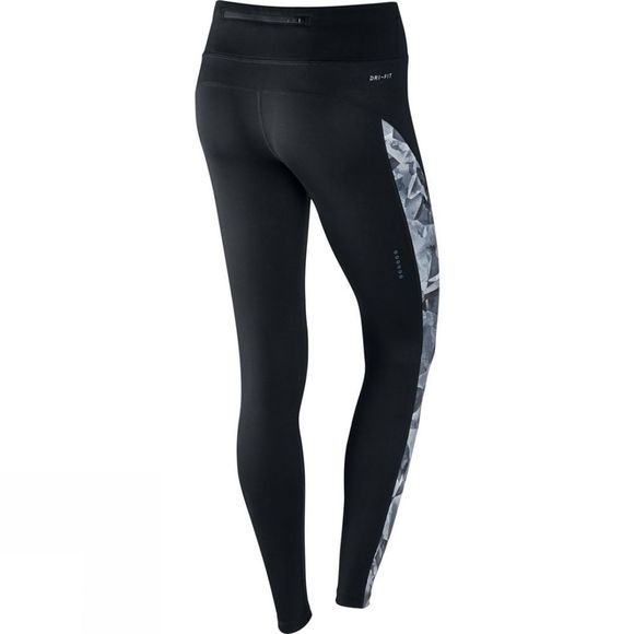 Nike Women's Power Running Tights Black/Thunder Blue