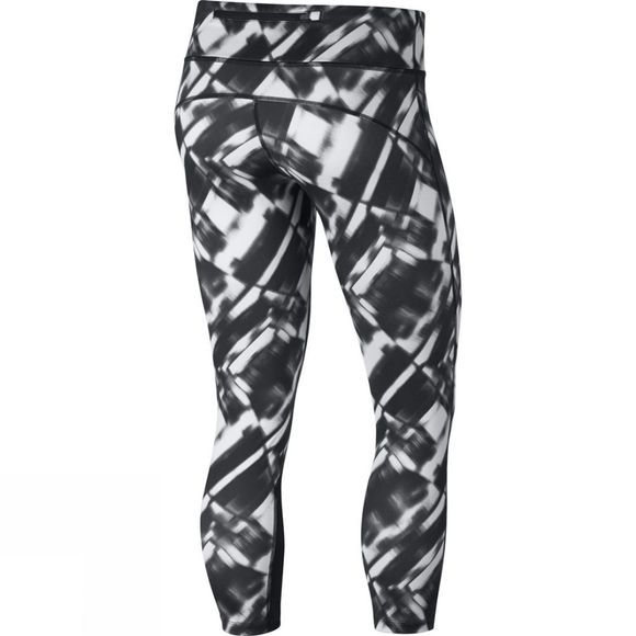 Nike Womens Printed Power Epic Run Crop Pure Platinum/Black