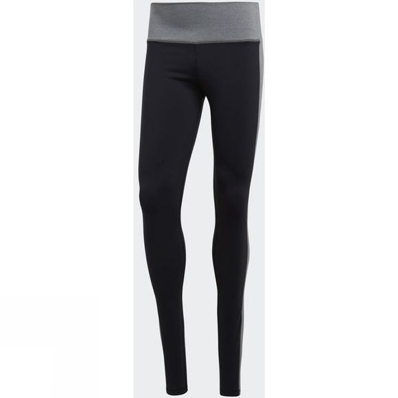 Adidas Womens Believe This High-Rise Heathered Tights Black