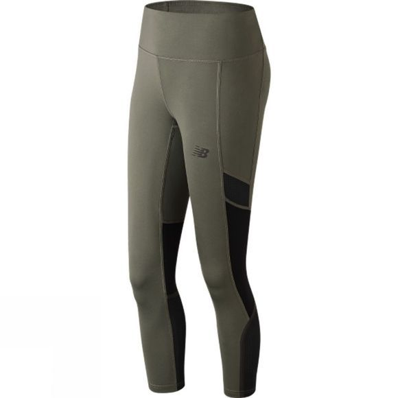 New Balance Womens Q Speed Crop Tight Khaki