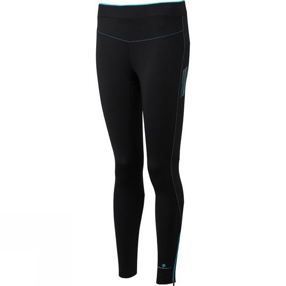 Ronhill Womens Stride Stretch Tights Black/Peacock