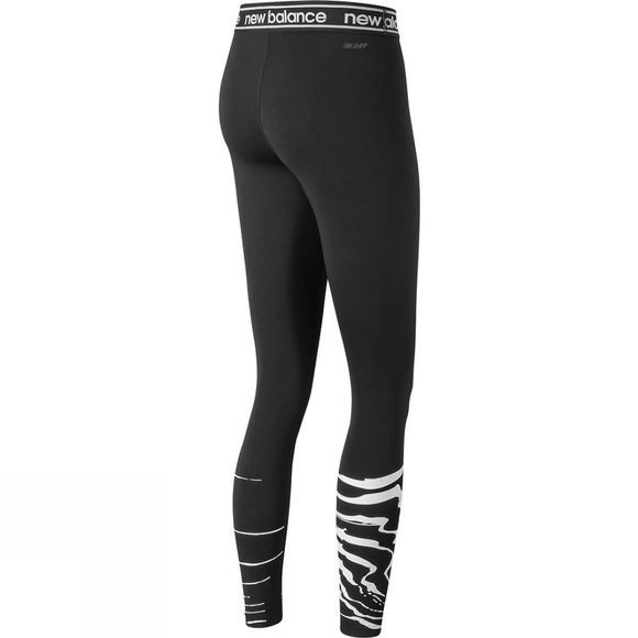 New Balance Womens Print Relentless Tights Black/White