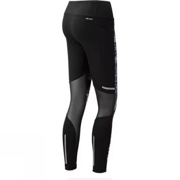 New Balance Womens Print Impact Tights  Black Multi
