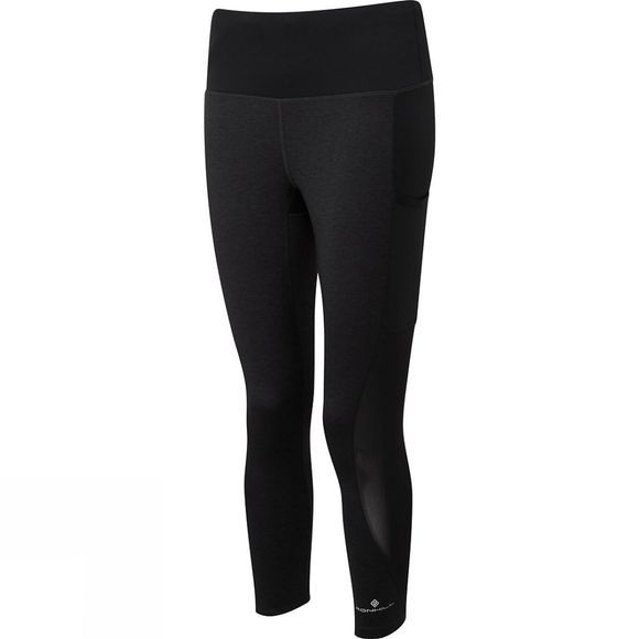 Ronhill Women's Momentum Agile Crop Tight Charcoal Marl/Black