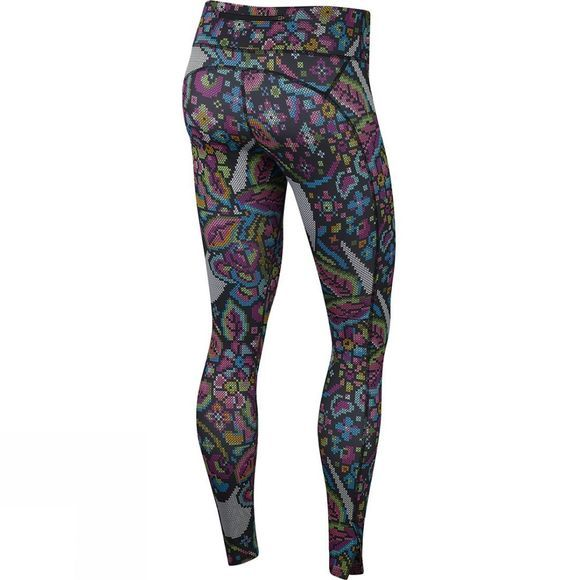 Nike Women's Fast Printed Running Tights Black/Phantom