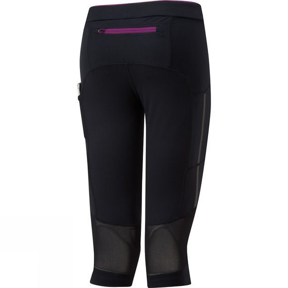 Ronhill Women's Stride Stretch Capri Black/Grape Juice