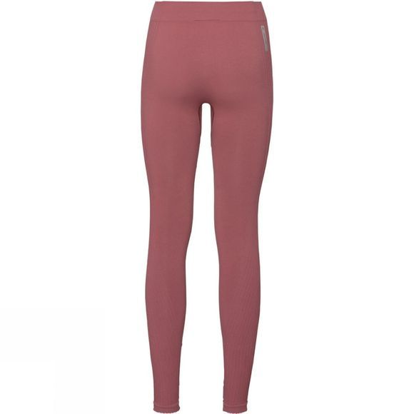 Odlo Womens Pure Ceramiwarm Tights Roan Rouge