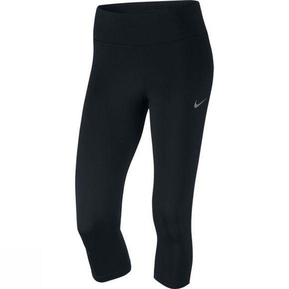 Nike Women's Power Essential Running Capri  BLACK/BACK