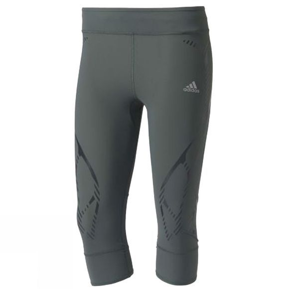Adidas Women's Adizero Sprintweb Three-Quarter Tights UTILITY IVY