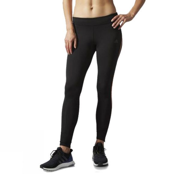 Adidas Women's Response 3/4 Tight BLACK/EASY ORANGE
