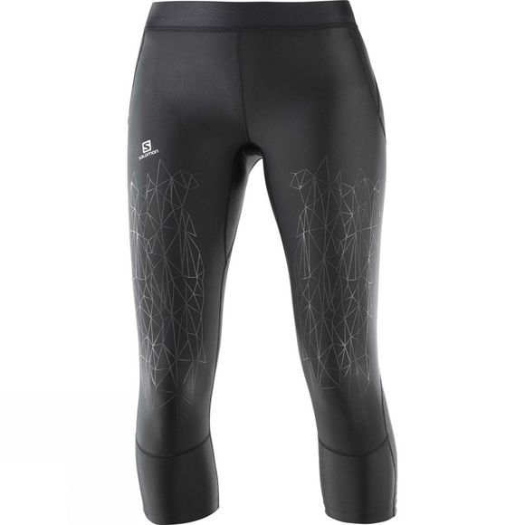 Salomon Womens Intensity Mid Tight Black
