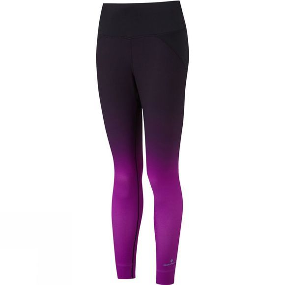 Ronhill Womens Momentum Crop Tights Thistle/Black Gradient