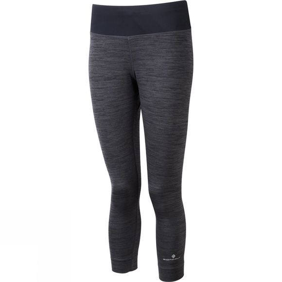 Ronhill Womens Momentum Workout Crop Tights Charcoal Marl