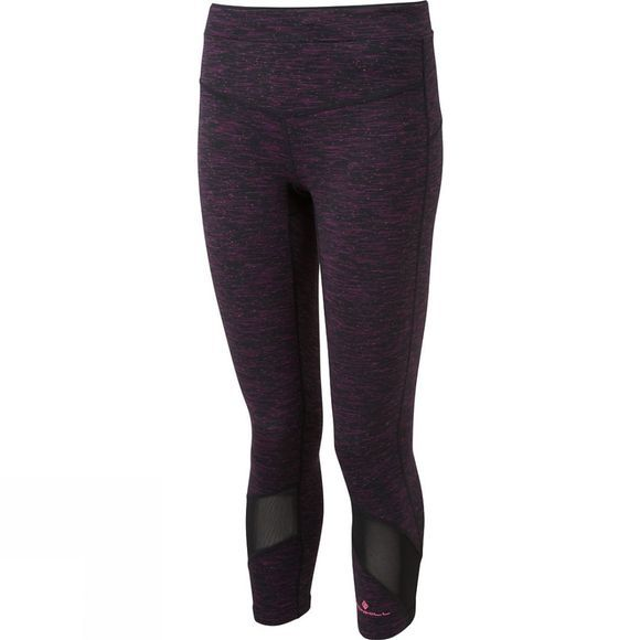 Ronhill Womens Infinity Crop Tights  Black/Grape