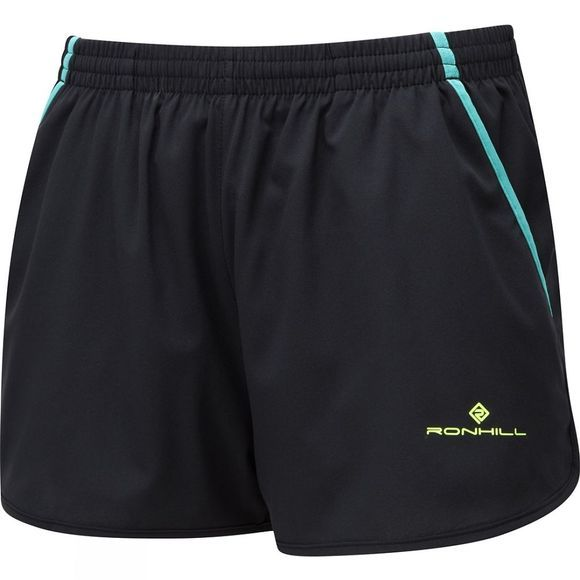 Ronhill Women's Stride Cargo Short Black/Jade