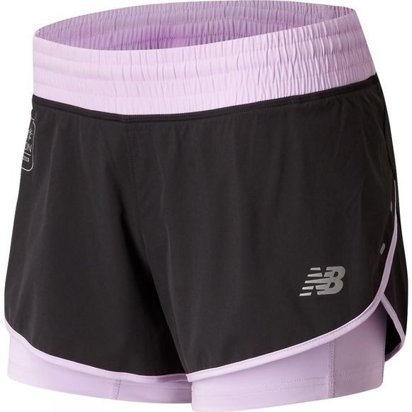 "New Balance Womens London Edition Impact Short 4"" Violet Glo"