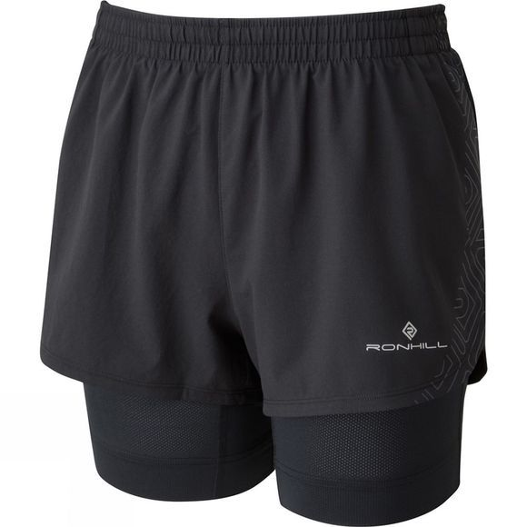 Ronhill Womens Infinity Marathon Twin Short All Black