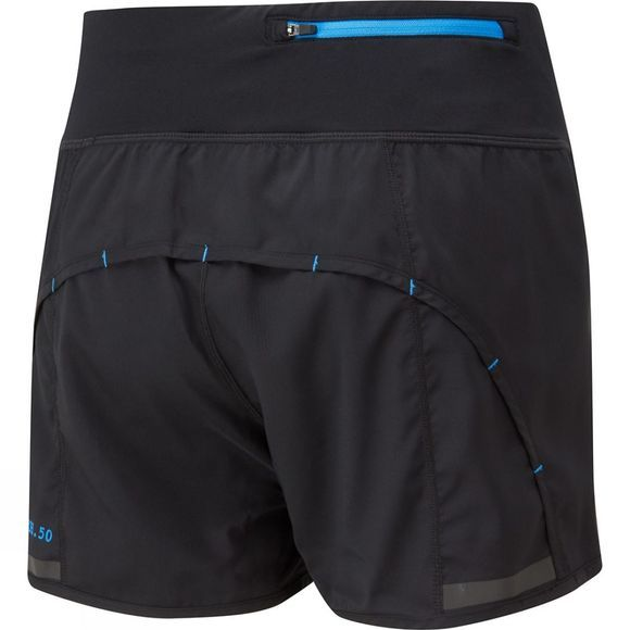 Ronhill Womens Stride Revive Short Black/Sky Blue
