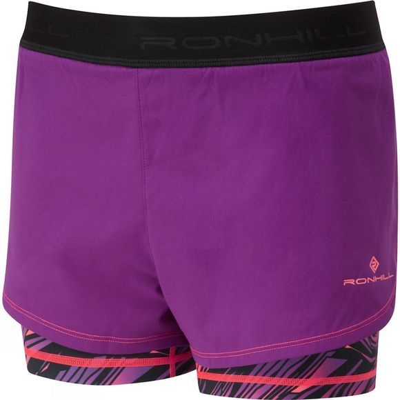 Ronhill Womens Momentum Twin Short Grape Juice/Hot Coral