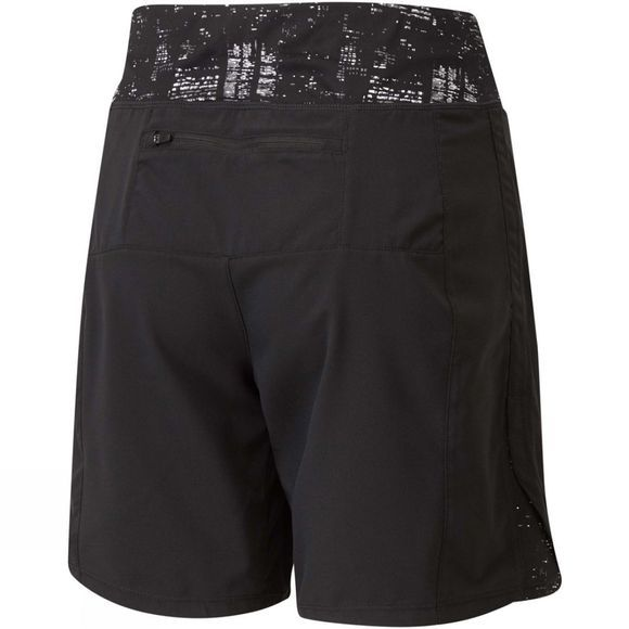 "Ronhill Womens Life 7"" Unlined Short Black/Grey Nightscape"
