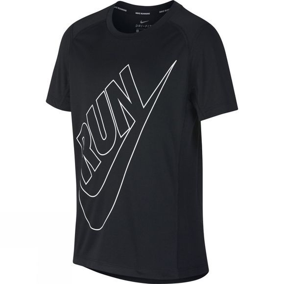 Nike Boys Dry Miler Running Top Black