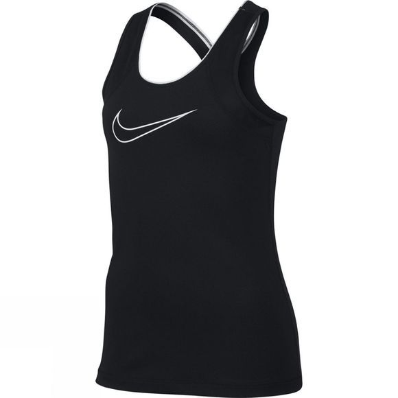 Nike Girls Pro Tank Black/Black/White