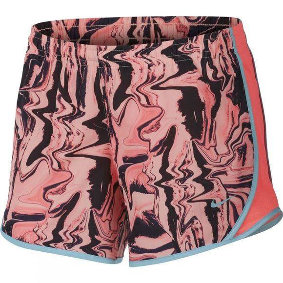 Nike Girls Dry Tempo Running Shorts Hot Punch/Hot Punch/Bleached Aqua