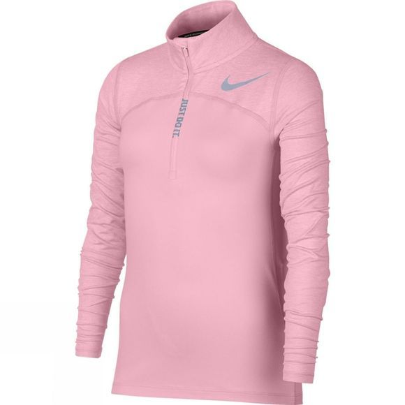 Nike Girls Half Zip Running Top Pink