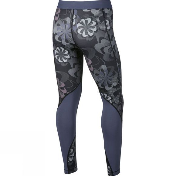 Nike Girls Pro Printed Tights Black/Diffused Blue/Pink