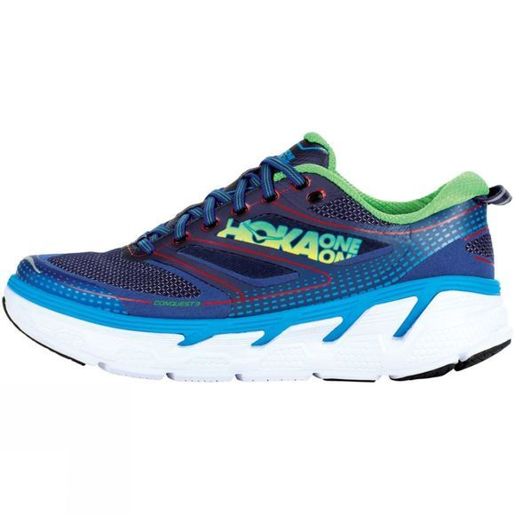 Hoka One One Mens Conquest 3 Astral Aura/Neon Green