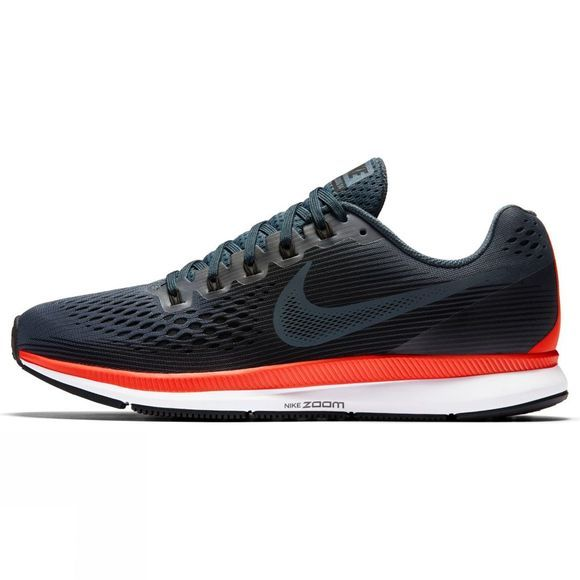 Nike Mens Air Zoom Pegasus 34 Blue Fox/Black-Bright Crimson-White