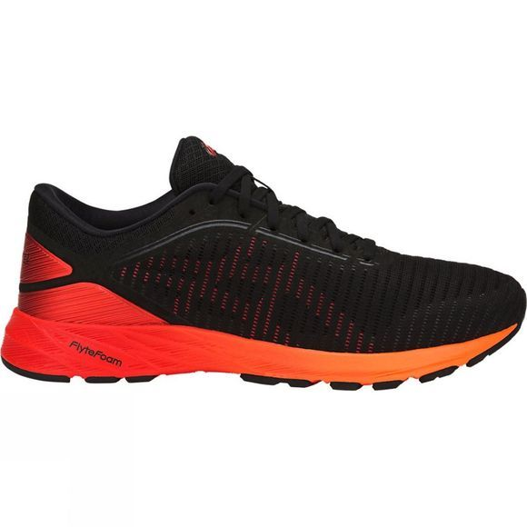 Asics Mens Dynaflyte 2 Shoe Black/Fiery Red/Shocking Orange