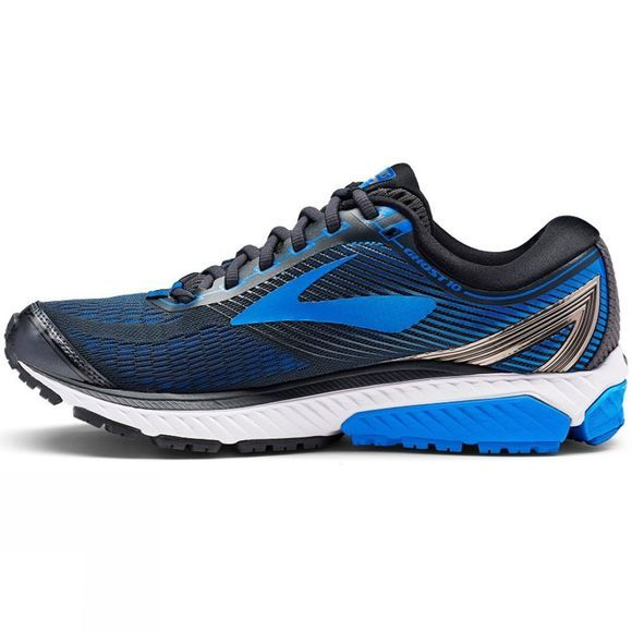 Brooks Mens Ghost 10 (Wide) Ebony/Metallic Charcoal/Electric Brooks Blue