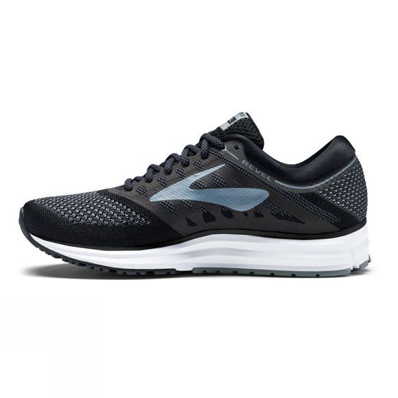 Brooks Mens Revel Black/Anthracite/Primer Grey