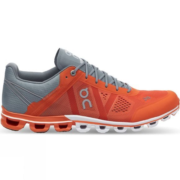 On Men's Cloudflow Orange/Glacier