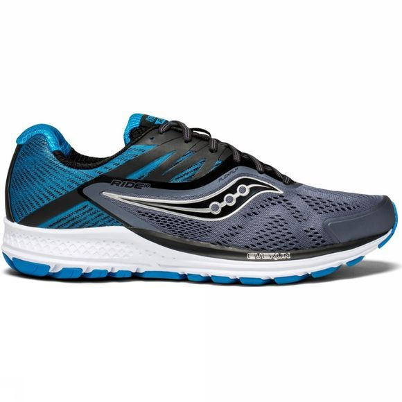 Saucony Mens Ride 10 Grey/Black/Blue