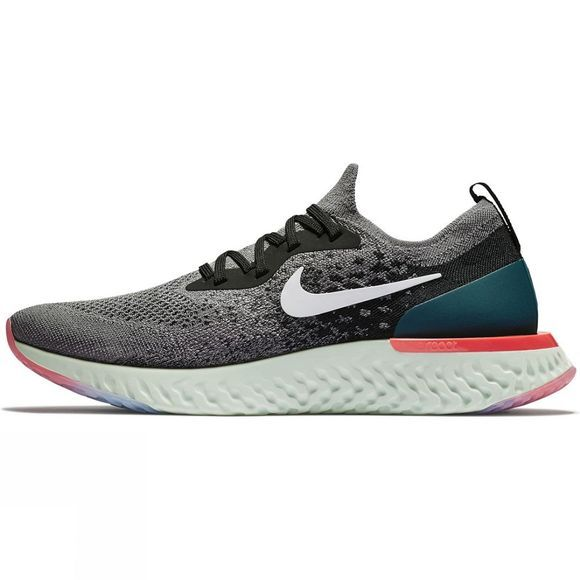 Nike Mens Epic React Gunsmoke/White-Black-Geode Teal