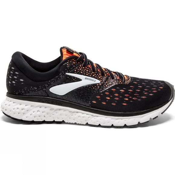 Brooks Mens Glycerin 16 Black/Orange/Grey