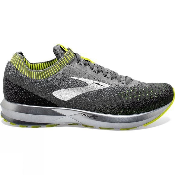 Brooks Mens Levitate 2 Grey/Nightlife/Back