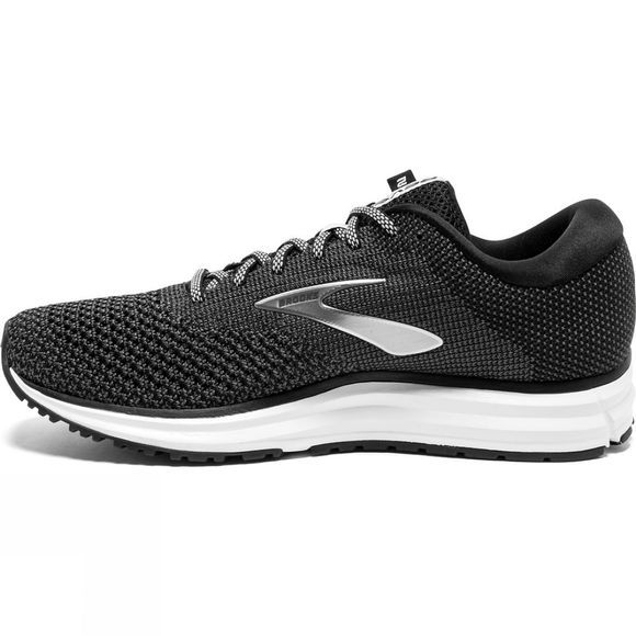 Brooks Mens Revel 2  Black/Grey/Grey