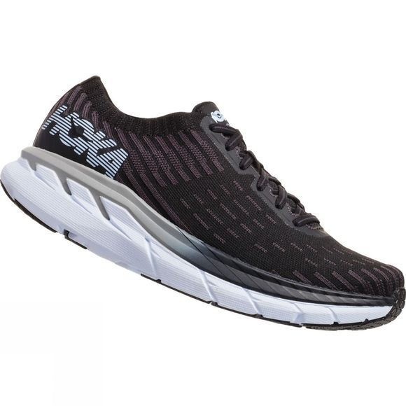 Hoka One One Mens Clifton 5 Knit Black / White