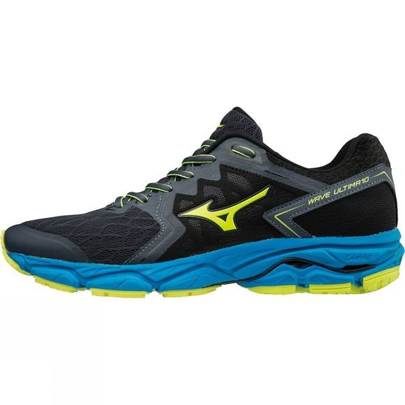 Mizuno Mens Wave Ultima 10 Ombre Blue / Safety Yellow / Diva Blue