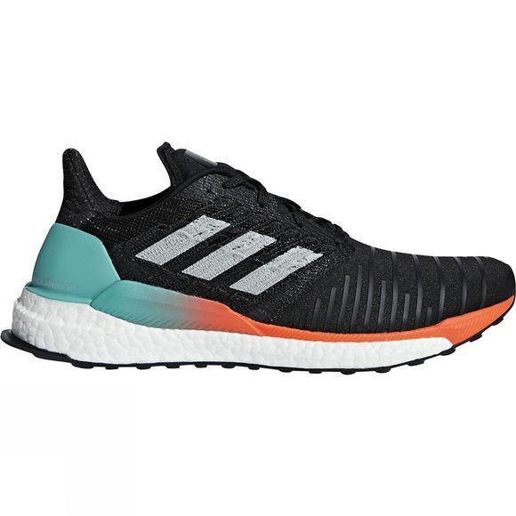 Adidas Mens Solar Boost Core Black/Grey Two F17/Hi-Res Aqua